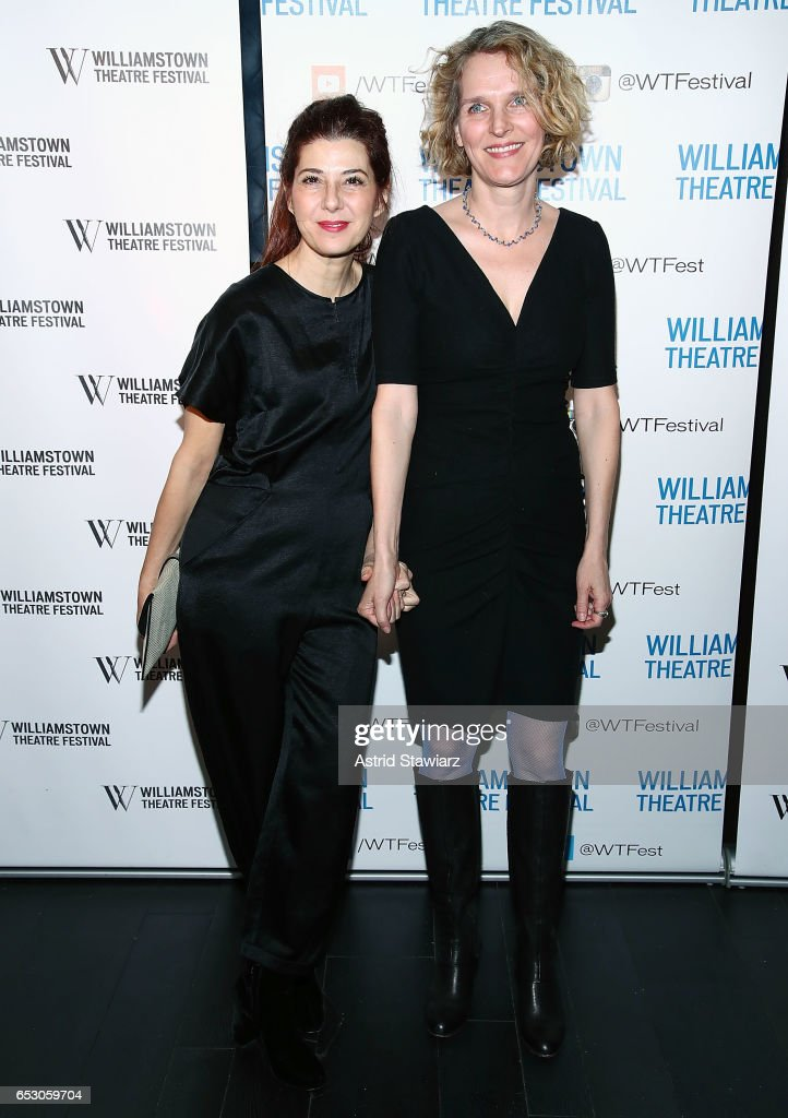 Actresses Marisa Tomei and Melissa James Gibson attend the 2017 Williamstown Theatre Festival Benefit at TAO Downtown on March 13, 2017 in New York City.