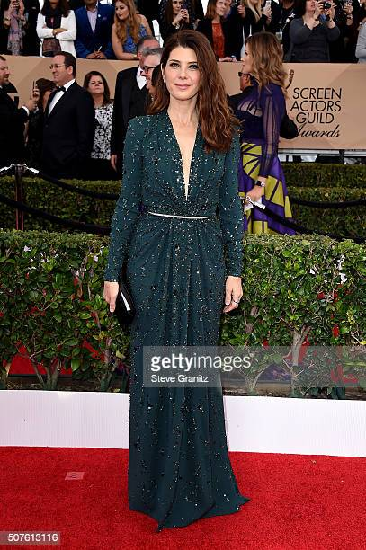 Actresses Marisa Tomei attends the 22nd Annual Screen Actors Guild Awards at The Shrine Auditorium on January 30 2016 in Los Angeles California