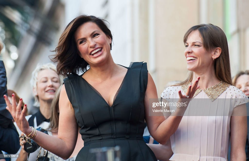 Actresses <a gi-track='captionPersonalityLinkClicked' href=/galleries/search?phrase=Mariska+Hargitay&family=editorial&specificpeople=204727 ng-click='$event.stopPropagation()'>Mariska Hargitay</a> (L) and <a gi-track='captionPersonalityLinkClicked' href=/galleries/search?phrase=Hilary+Swank&family=editorial&specificpeople=201692 ng-click='$event.stopPropagation()'>Hilary Swank</a> attend the ceremony honoring <a gi-track='captionPersonalityLinkClicked' href=/galleries/search?phrase=Mariska+Hargitay&family=editorial&specificpeople=204727 ng-click='$event.stopPropagation()'>Mariska Hargitay</a> with a Star on The Hollywood Walk of Fame on November 8, 2013 in Hollywood, California.