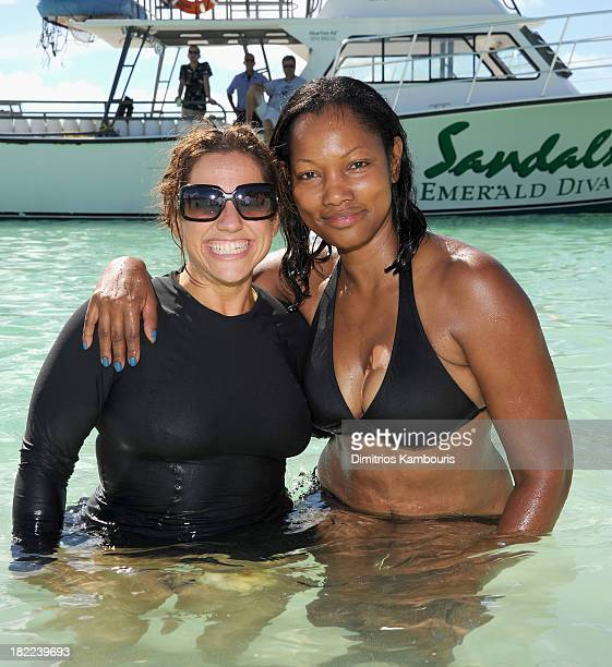 Actresses Marissa Jaret Winokur and Garcelle Beauvais attend the Island Routes Caribbean Adventures during Day Two of the Sandals Emerald Bay...