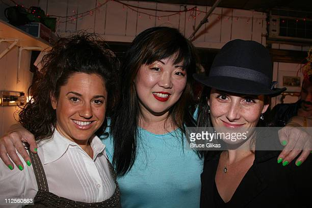 COVERAGE* Actresses Marissa Jaret Winokur and Ricki Lake pose with Margaret Cho backstage at her new variety show 'The Sensuous Woman' at the Zipper...