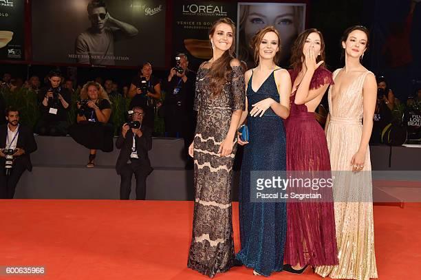 Actresses Marta Gastini Laura Adriani Maria Roveran and Caterina Le Casella attend the premiere of 'Questi Giorni' during the 73rd Venice Film...