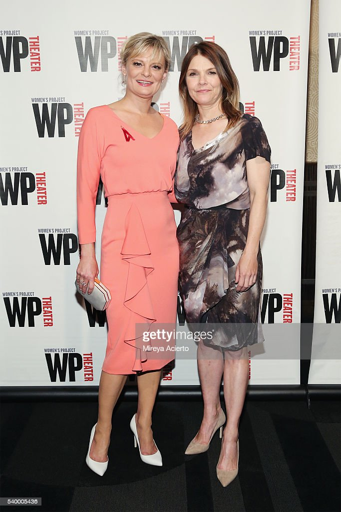 Actresses Martha Plimpton and Kathryn Erbe attend the WP Theater Women of Achievement Awards Gala at Edison Ballroom on June 13 2016 in New York City