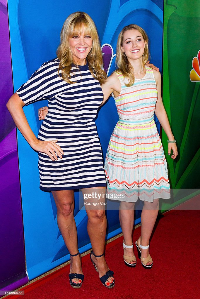 Actresses Mary McCormack (L) and Ella Rae Peck attend the 2013 Television Critic Association's Summer Press Tour - NBC Party at The Beverly Hilton Hotel on July 27, 2013 in Beverly Hills, California.