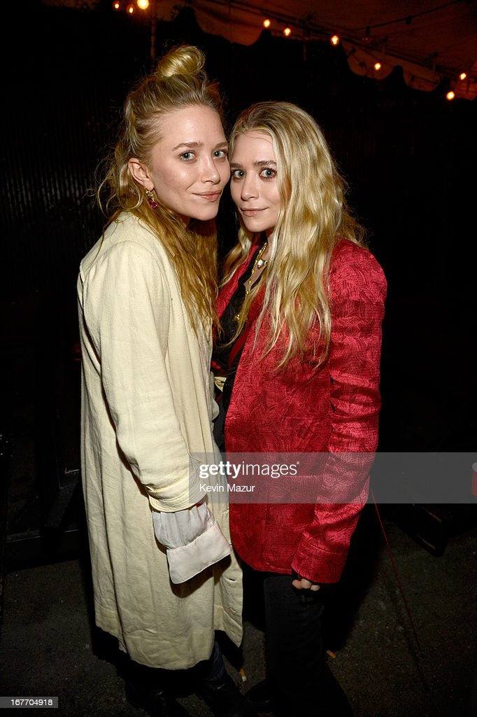 Actresses Mary-Kate Olsen and Ashley Olsen attend the Rolling Stones performance at Echoplex on April 27, 2013 in Los Angeles, California. The Rolling Stones played a surprise club gig tonight in Los Angeles at the Echoplex - leading up to the launch of their '50 & Counting' tour on May 3, 2013 at the STAPLES Center in Los Angeles.