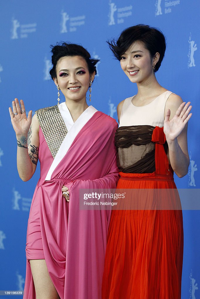 Actresses Mavis Fan and Kwai Lun Mei attend the 'Flying Swords Of Dragon Gate' Photocall during day nine of the 62nd Berlin International Film Festival at the Grand Hyatt on February 17, 2012 in Berlin, Germany.