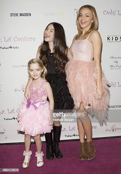 Actresses Mckenna Grace Landry Bender and Oana Gregory attend Ooh La La Couture 5th Annual Tutus4Tots Charity Eventon February 1 2014 in Los Angeles...