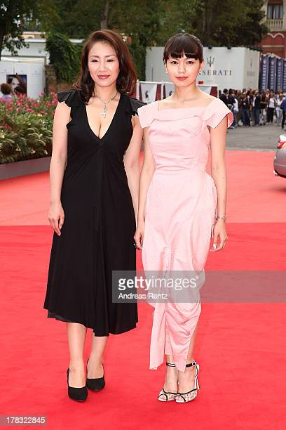 Actresses Megumi Kagurazaka and Fumi Nikaido attend 'Why Don't You Play In Hell' premiere during the 70th Venice International Film Festival on...