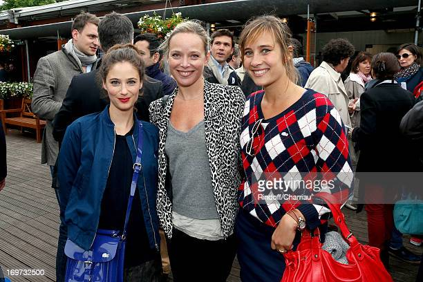 Actresses Melanie Bernier Marie Guillard and Julie De Bona attend Roland Garros Tennis French Open 2013 Day 6 on May 31 2013 in Paris France