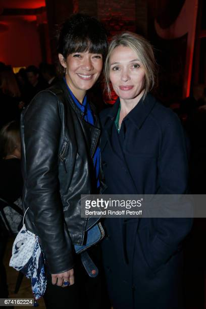 Actresses Melanie Doutey and Anne Marivin attend the 'pascALEjandro L'Androgyne Alchimique' Exhibition Opening at Azzedine Alaia Gallery on April 27...