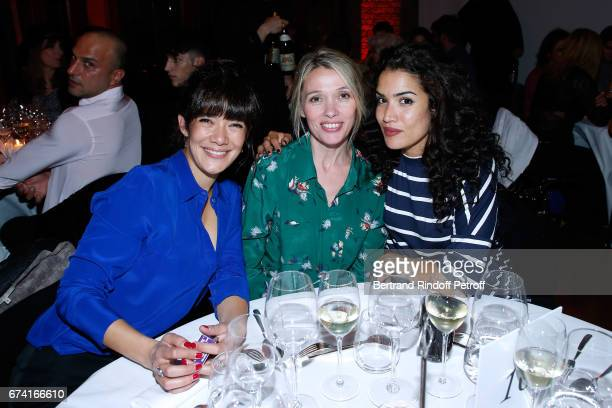 Actresses Melanie Doutey Anne Marivin and Sabrina Ouazani attend the 'pascALEjandro L'Androgyne Alchimique' Exhibition Opening at Azzedine Alaia...