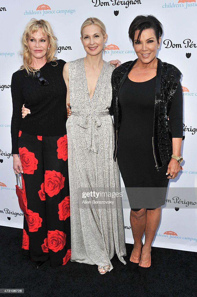 Actresses Melanie Griffith, Kelly Rutherford and tv personality Kris Jenner attend Children's Justice Campaign Event on May 12, 2015 in Beverly Hills, California.