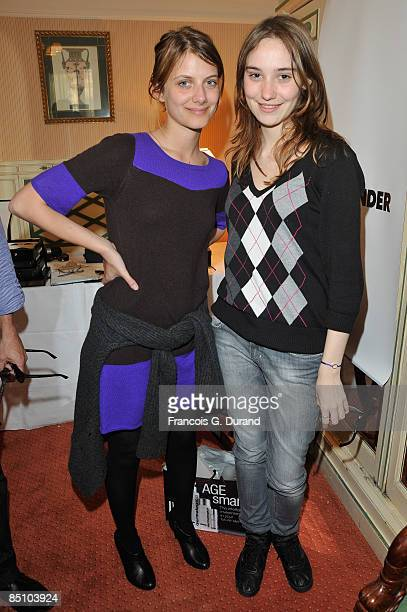Actresses Melanie Laurent and Deborah Francois attends the 'Espace Glamour Chic' Cesars Gift Lounge at Hotel Napoleon on February 25 2009 in Paris...