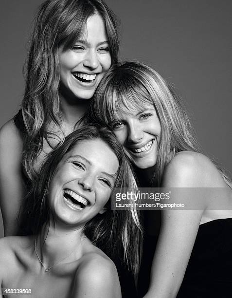 Actresses Melanie Laurent Lou de Laage and Josephine Japy are photographed for Madame Figaro on September 22 2014 in Paris France Laurent Bustier...