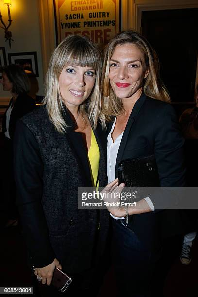 Actresses Melanie Page and Judith El Zein attend the 'Tout ce que vous voulez' Theater Play at Theatre Edouard VII on September 19 2016 in Paris...