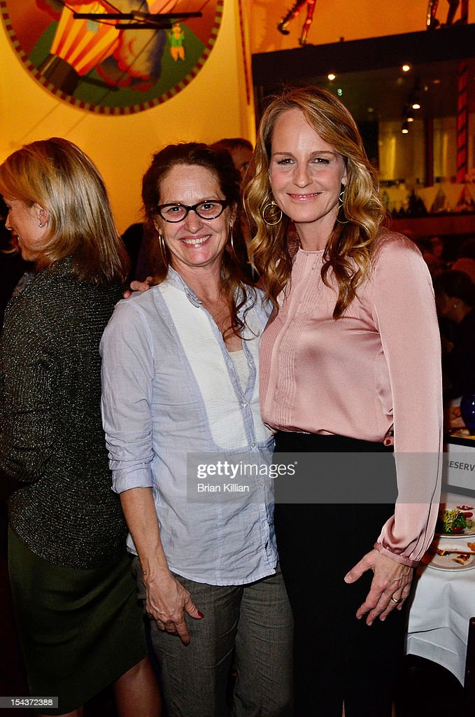 Actresses Melissa Leo and Helen Hunt attend the 'The Sessions' New York Screening dinner at Circo on October 18 2012 in New York City