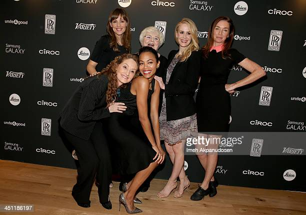 Actresses Melissa Leo Jennifer Garner Zoe Saldana June Squibb Sarah Paulson and Julianne Nicholson attend Variety Awards Studio Day 2 at the Leica...