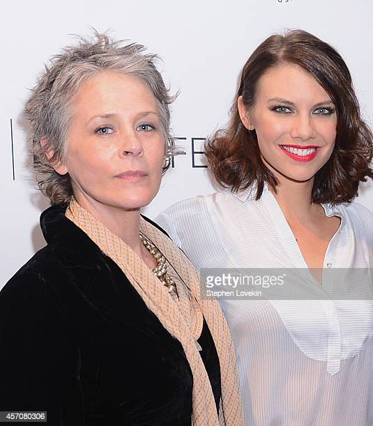 Actresses Melissa McBride and Lauren Cohan attend The 2nd Annual Paleyfest New York Presents 'The Walking Dead' at Paley Center For Media on October...