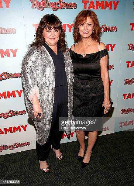 Actresses Melissa McCarthy and Susan Sarandon attend 'Tammy' New York special screening at Landmark Sunshine Cinema on June 26 2014 in New York City