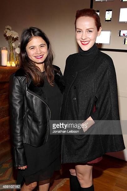 Actresses Melonie Diaz and Jena Malone attend The Art Of Elysium's 2015 HEAVEN PreEvent Dinner presented by Samsung Galaxy on November 16 2014 in Los...