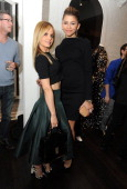 Actresses Mena Suvari and Zendaya Coleman attend Christian Siriano Fall 2014 LA preview cocktail party at Decades on April 25 2014 in Los Angeles...