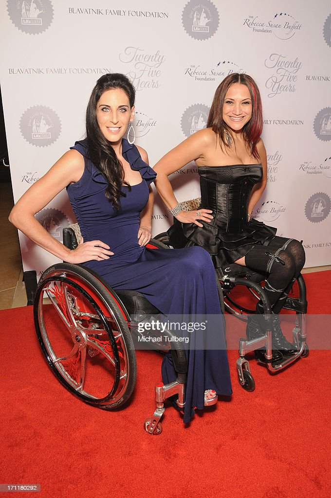 Actresses Mia Schaikewitz and Auti Angel attend the LA's Best 25th Anniversary Gala at The Beverly Hilton Hotel on June 22, 2013 in Beverly Hills, California.