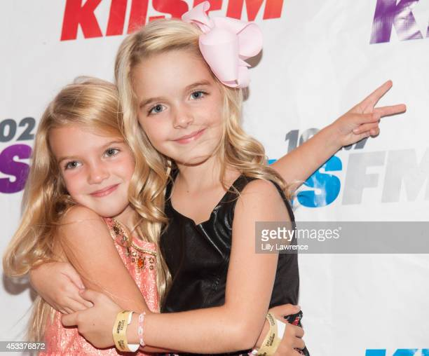 Actresses Mia Talerico and McKenna Grace arrive at KIIS FM's Teen Choice PreParty at W Los Angeles Westwood on August 8 2014 in Los Angeles California
