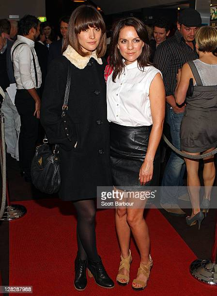 Actresses Michala Banas and Rose Byrne arrive at the 'Surviving Georgia' premiere at The Classic Cinema on October 6 2011 in Melbourne Australia
