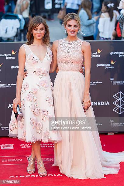 Actresses Michelle Jenner and Amaia Salamanca attend 'Nuestros Amantes' premiere during the 19th Malaga Film Festival at the Cervantes Teather on...