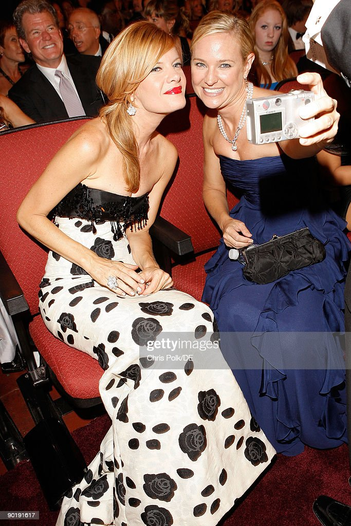 Actresses Michelle Stafford and Sharon Case attend the 36th Annual Daytime Emmy Awards at The Orpheum Theatre on August 30, 2009 in Los Angeles, California.