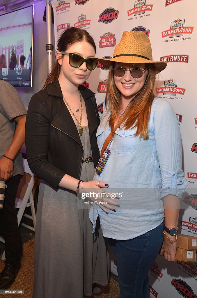 Actresses Michelle Trachtenberg and Kaylee De Fer attend the KROQ Weenie Roast Y Fiesta at Verizon Wireless Amphitheater on May 18 2013 in Irvine...