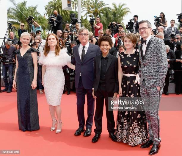 Actresses Michelle Williams Julianne Moore Director Todd Haynes actor Jaden Michael producer Pamela Koffler and Screenwriter Brian Selznick attend...