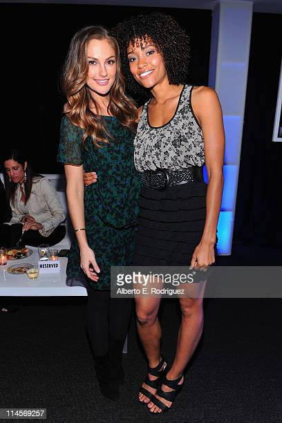 Actresses Minka Kelly and Annie Ilonzeh attend Sony Pictures Television's LA Screenings at Sony Pictures Studios on May 23 2011 in Culver City...