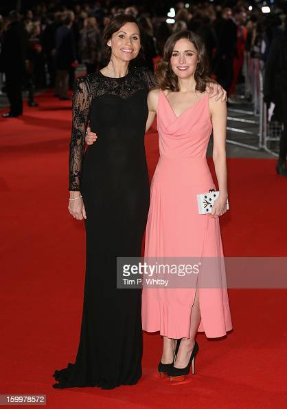 Actresses Minnie Driver and Rose Byrne attend the UK Premiere of 'I Give It A Year' at the Vue West End on January 24 2013 in London England