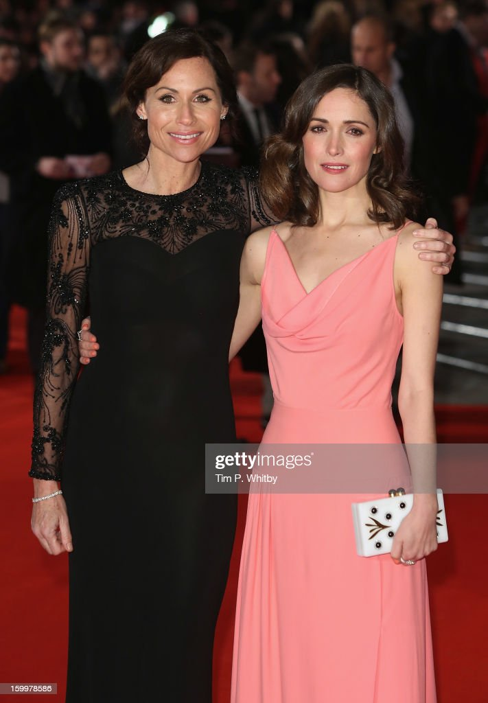 Actresses <a gi-track='captionPersonalityLinkClicked' href=/galleries/search?phrase=Minnie+Driver&family=editorial&specificpeople=201884 ng-click='$event.stopPropagation()'>Minnie Driver</a> and <a gi-track='captionPersonalityLinkClicked' href=/galleries/search?phrase=Rose+Byrne&family=editorial&specificpeople=206670 ng-click='$event.stopPropagation()'>Rose Byrne</a> attend the UK Premiere of 'I Give It A Year' at the Vue West End on January 24, 2013 in London, England.