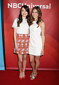 Actresses Miranda Cosgrove and Mia Serafino arriveat the 2016 Summer TCA Tour NBCUniversal Press Tour at the Four Seasons Hotel Westlake Village on...