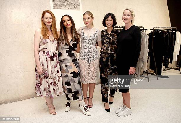 Actresses Miranda Otto Cleopatra Coleman Rose Mciver Alyssa Xayalith and designer Juliette Hogan attend the Juliette Hogan SS16 showcase at NuSpace...