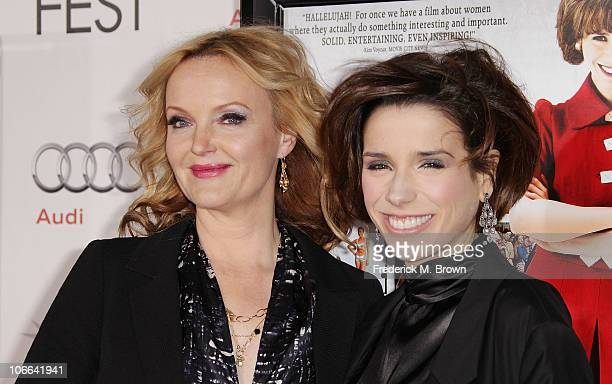 Actresses Miranda Richardson and Sally Hawkins arrive at the 'Made In Dagenham' screening during AFI FEST 2010 presented by Audi held at Grauman's...
