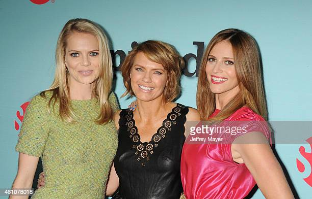 Actresses Mircea Monroe Kathleen Rose Perkins and Andrea Savage attend the Showtime celebration of the allnew seasons of 'Shameless' 'House Of Lies'...