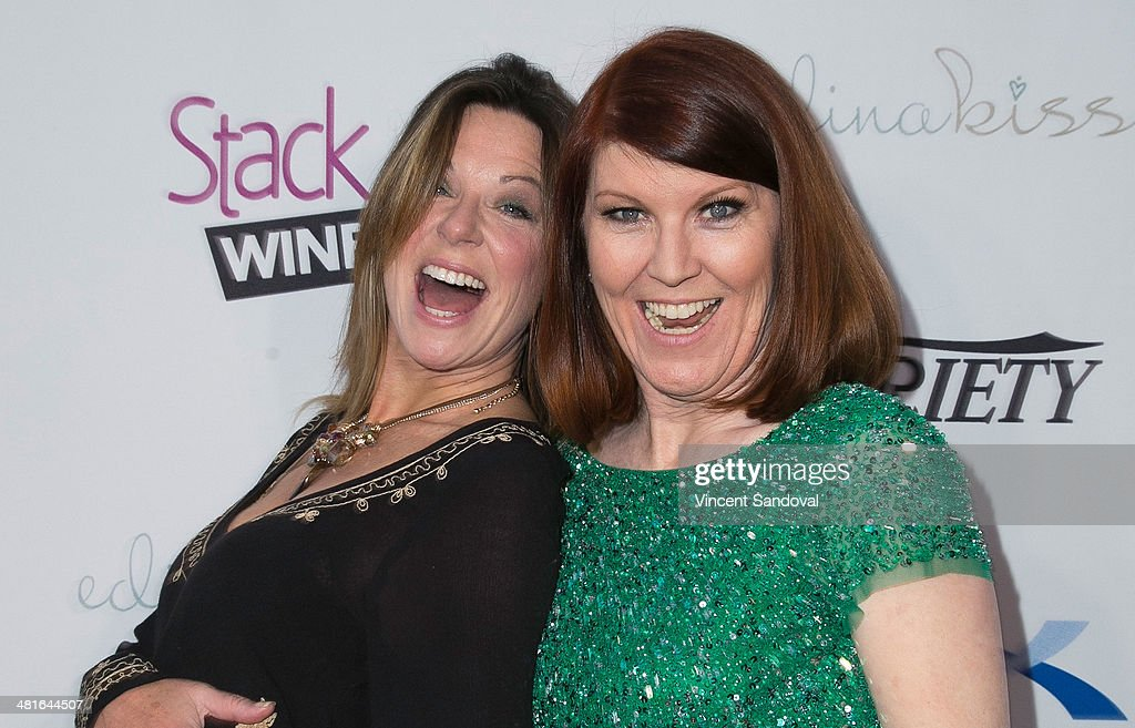 Actresses Mo Collins (L) and <a gi-track='captionPersonalityLinkClicked' href=/galleries/search?phrase=Kate+Flannery&family=editorial&specificpeople=580714 ng-click='$event.stopPropagation()'>Kate Flannery</a> attend the Tuberous Sclerosis Alliance's Comedy For A Cure benefit at Lure on March 30, 2014 in Hollywood, California.