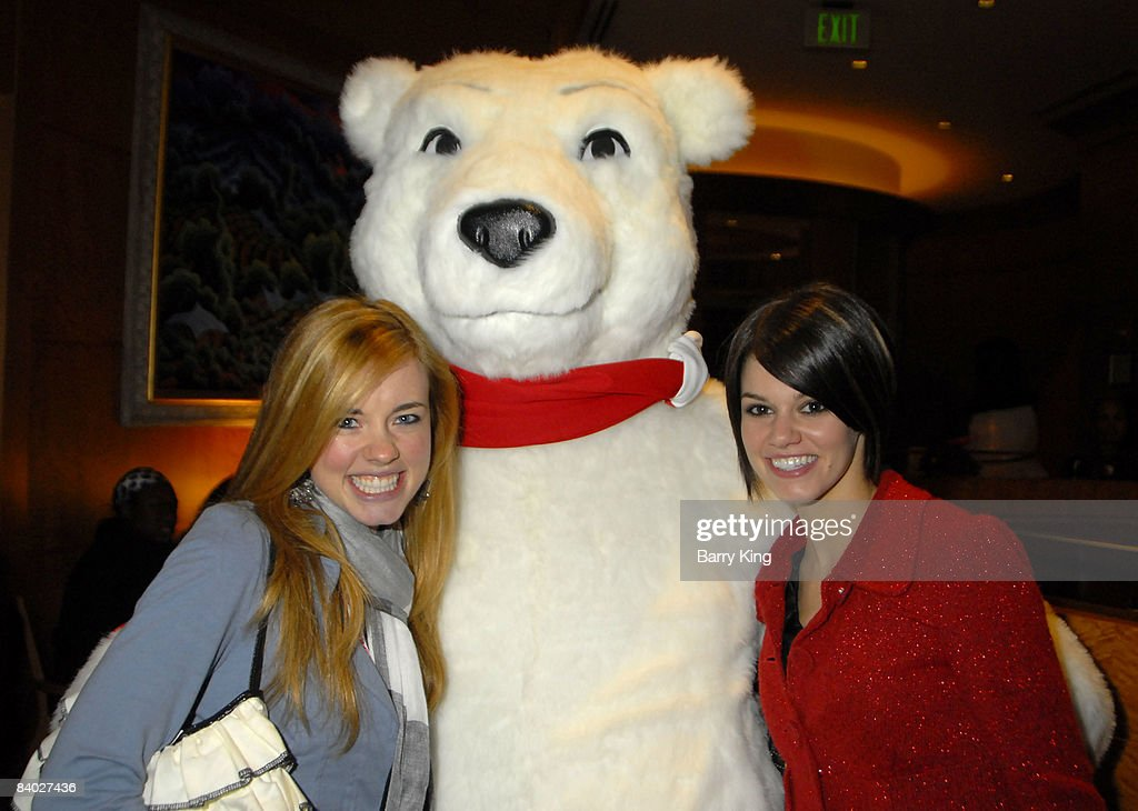 Actresses Molly Burnett and Rachel Melvin attend the 'Live Positively Holiday Parade' held at Staples Center and LA Live on December 13, 2008 in Los Angeles, California.