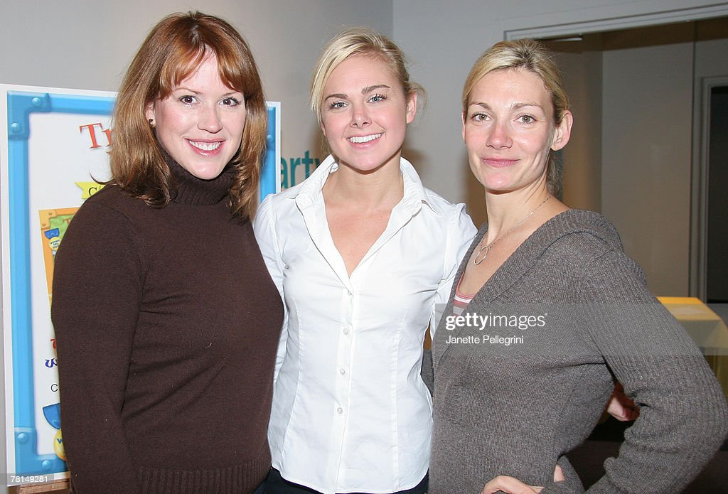 Actresses Molly Ringwald Laura Bell Bundy and Beth Ehlers attend the 'Traveling Bears' Books Series Debut at The Children's Museum of Manhattan on November 29, 2007 in New York City.
