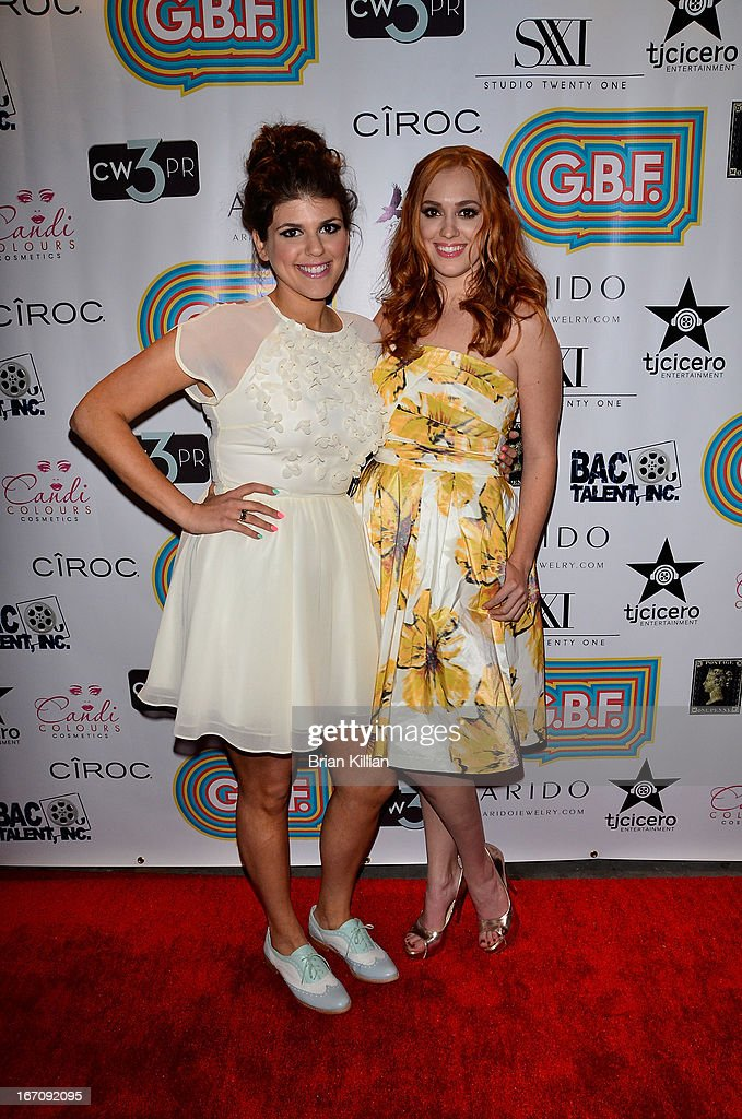 Actresses Molly Tarlov and <a gi-track='captionPersonalityLinkClicked' href=/galleries/search?phrase=Andrea+Bowen&family=editorial&specificpeople=212969 ng-click='$event.stopPropagation()'>Andrea Bowen</a> attend the screening of 'G.B.F.' during the 2013 Tribeca Film Festival at Studio XXI on April 19, 2013 in New York City.