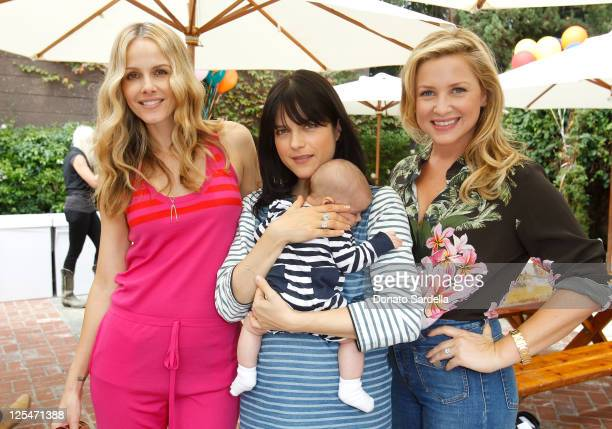 Actresses Monet Mazur Selma Blair and Jessica Capshaw attend Stella McCartney Celebrates Going Back To School With Children's Action Network on...