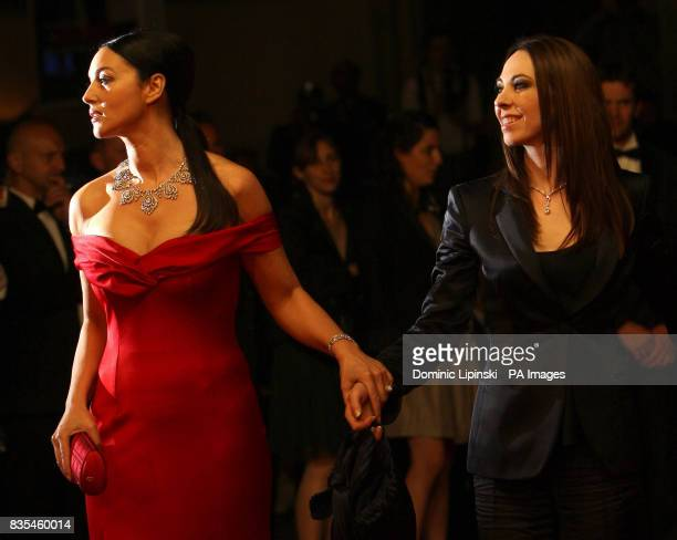 Actresses Monica Bellucci and Marina De Van arrive at the premiere of 'Don't Look Back' at the Palais des Festivals in Cannes France at the 62nd...