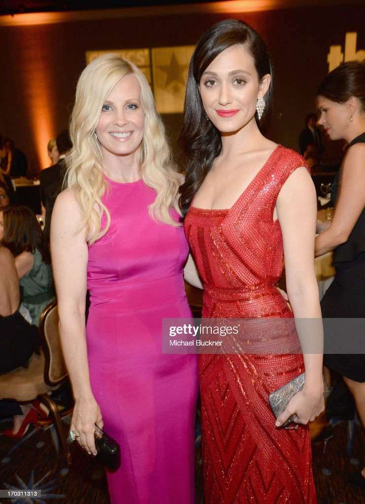Actresses <a gi-track='captionPersonalityLinkClicked' href=/galleries/search?phrase=Monica+Potter&family=editorial&specificpeople=2086196 ng-click='$event.stopPropagation()'>Monica Potter</a> and <a gi-track='captionPersonalityLinkClicked' href=/galleries/search?phrase=Emmy+Rossum&family=editorial&specificpeople=202563 ng-click='$event.stopPropagation()'>Emmy Rossum</a> attend the Broadcast Television Journalists Association's third annual Critics' Choice Television Awards at The Beverly Hilton Hotel on June 10, 2013 in Los Angeles, California.