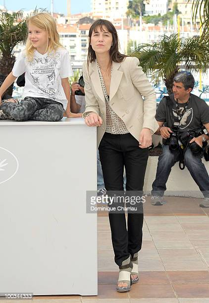 Actresses Morgana Davies and Charlotte Gainsbourg attend 'The Tree' Photo Call held at the Palais des Festivals during the 63rd Annual International...