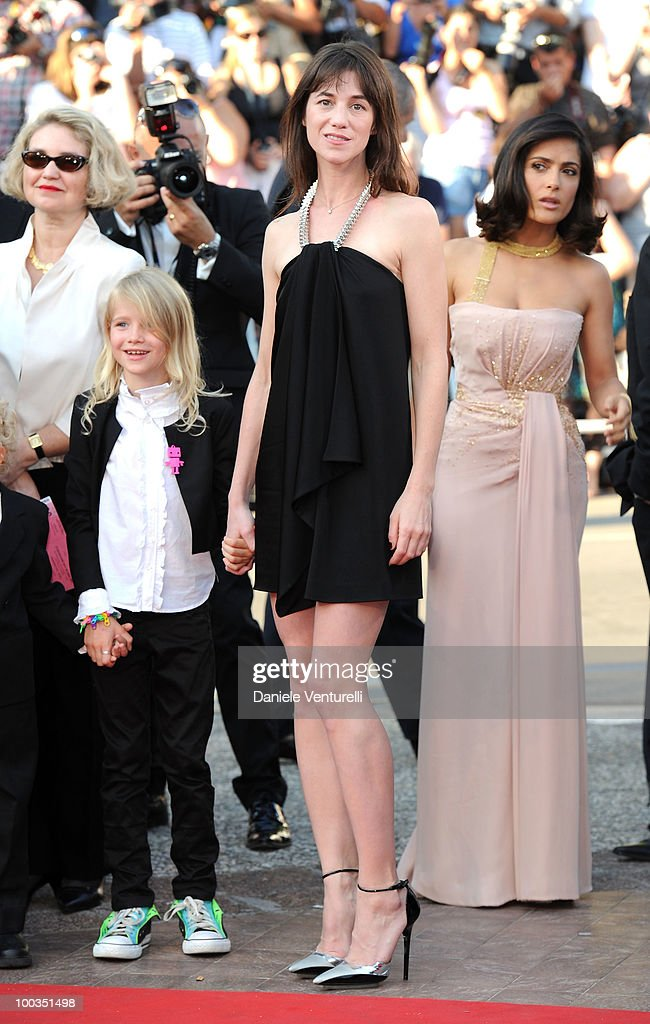 Actresses Morgana Davies and Charlotte Gainsbourg attend 'The Tree' Premiere held at the Palais des Festivals during the 63rd Annual International Cannes Film Festival on May 23, 2010 in Cannes, France.