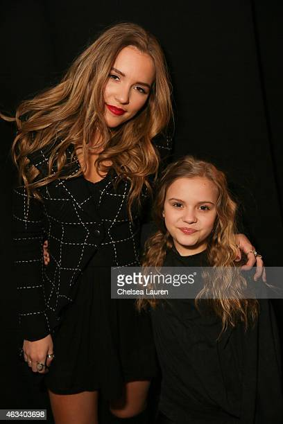 Actresses / musicians Lennon Stella and Maisy Stella are seen backstage at the Mark and Estel show at Lincoln Center for the Performing Arts on...