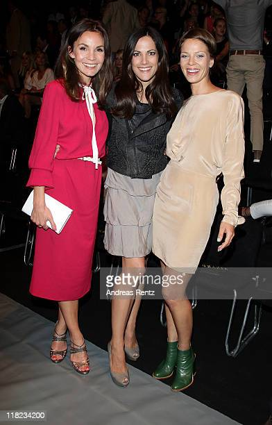 Actresses Nadine Warmuth Bettina Zimmermann and Jessica Schwarz attend the Opening Night by GRAZIA MercedesBenz Fashion Week Berlin Spring/Summer...